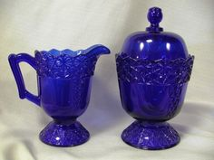 Cobalt Blue Glass.