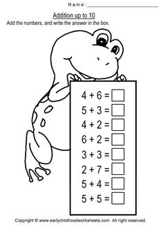 math worksheet : worksheets and chang e 3 on pinterest : Addition Worksheets Up To 10
