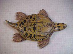 Incredible Antique Turtle Vintage Folk Art Carved Fish Decoy Ice Spearing Lure | eBay