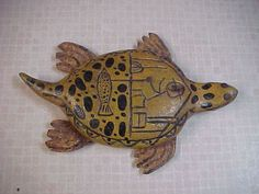 Incredible Antique Turtle Vintage Folk Art Carved Fish Decoy Ice Spearing Lure | eBay