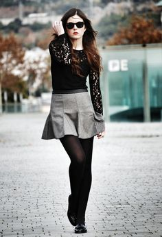black lace for fall
