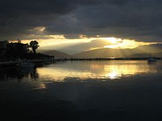 Sunset over the mountains of Tripoli in #Arcadia, as seen from the port of #Nafplio in the #Peloponnese, #Greece