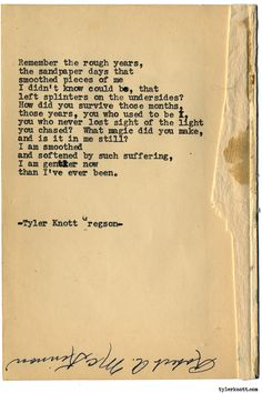 Typewriter Series #1603 by Tyler Knott Gregson Chasers of the Light & All The Words Are Yours are Out Now!