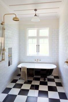 Herne Bay Bungalow Alteration & Extension - Transitional - Bathroom - Auckland - by Architecture Smith + Scully Ltd Bungalow Renovation, Black White Bathrooms, Coastal Cottage Bathroom, Beautiful Bathroom Designs, Black Bathroom, Beautiful Bathrooms, Coastal Cottage, Heritage Bathroom, Cottage Bathroom