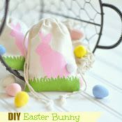 DIY Easter Bunny Stenciled Favor Bags