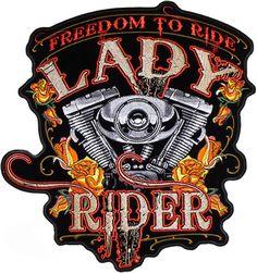 Lady Rider patch - Aufnäher Reiterin - chevron La Señorita Racer