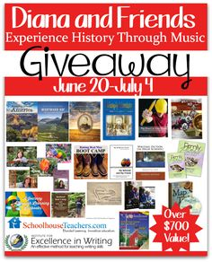 A HUGE giveaway for homeschooling! $700+ from @dwaringpresents (ends 6/30/2014) ! #dianawaring #giveaway #history #homeschool