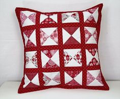 Check out this item in my Etsy shop https://www.etsy.com/ca/listing/493534422/red-quilted-pillow-red-white-pillow