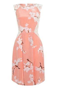 floral dress + lace