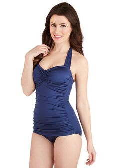 Bathing Beauty One Piece in Navy, @ModCloth