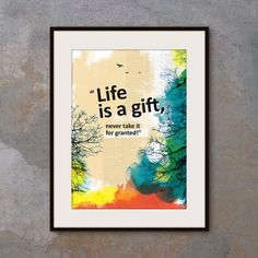 A3 Motivational poster with inspiring quote. by inspiring4U, $26.00
