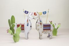 Llama_Cacti_Papertoy_freebie_DIY_faltmanufaktur01 Featured