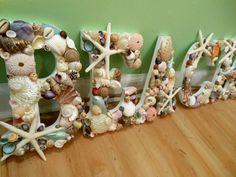 Beach Decor Beach Shell Letters - Seashell letters - Beach Sign | LiveCoastal - Housewares on ArtFire