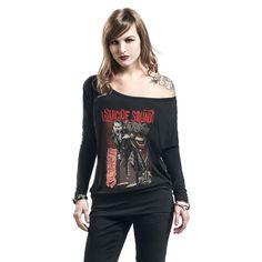 """Maglia donna a maniche lunghe """"The Joker"""" di #SuicideSquad."""