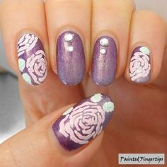 Roses and a Gradient  #nailart #notd