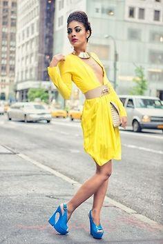 yellow #dress #fashion