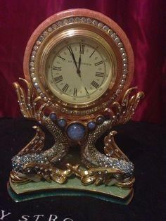 Jay Strongwater Atlantis Gavin Fish Clock RARE