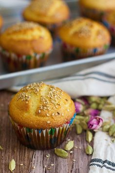 Persian Cardamom Muffins - Cake Yazdi is a traditional Iranian/Persian recipe for delicious muffins that are filled with Persian flavors.