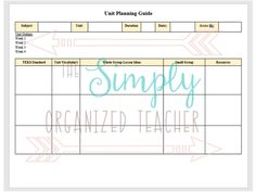 Lesson  Unit Plan Templates For Middle Or High School  Arlene