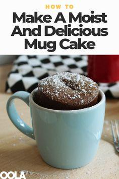 How To Make A Moist And Delicious Mug Cake Mug Recipes, Baking Recipes, Cake Recipes, Coffe Mug Cake, Coffee, Easy Mug Cake, Mug Cake Microwave, Cake Kit, Chocolate Mug Cakes