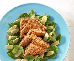 Asiatischer Spinatsalat mit Tofu