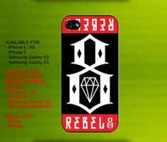 Rebel8 case for iPhone 4/4S iPhone 5 Galaxy S2/S3 #iPhonecase #iPhoneCover #3DiPhonecase #3Dcase #S4 #s5 #S5case
