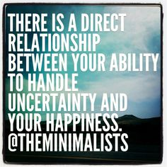 how to cope with uncertainty in a relationship