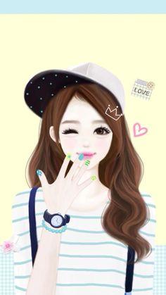 Cartoon Sk H Cute Korean Girl Drawing Novocom Top