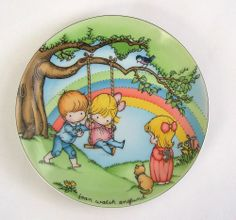Joan Walsh Anglund Collector Plate Make each day a Rainbow Ebeling & Reuss 1981