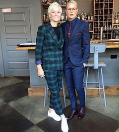 Blue suit on the right is on point.