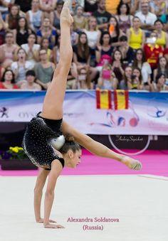 Alexandra SOLDATOVA (Russia)🇷🇺 ~ Ball routine @ Euskalgym 2016 😊😊 Photographer 📷Andrey Sapizhak.