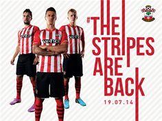 saintsfc.co.uk – #TheStripesAreBack! Southampton FC reveals its 2014/15 home strip