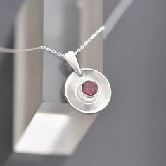 January Birthstone Necklace, Birthstone Pendant, Garnet Pendant, Amethyst Gemstone, Amethyst Earrings, Handmade Jewellery, Beautiful Necklaces, Sterling Silver Pendants