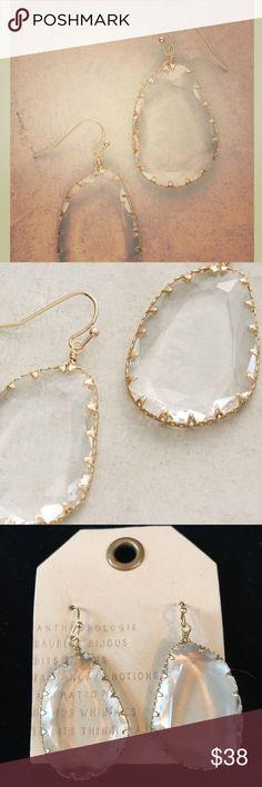 """Issoria Drop Earrings NEW! Beautiful glass earrings. 1.25"""" long. No trades or lowball offers please. Anthropologie Jewelry Earrings"""