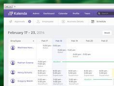 Create Schedule - dribbble.com