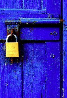 Blue Door: fear of light (In Memory of Paul) by Meaghan Douglas - http://www.flickr.com/photos/7165693@N07/504384169/ - dazzling blue