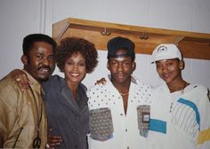 Tommy Brown, Whitney Houston, Bobby Brown, Robyn Crawford. #90s