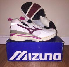 VINTAGE DEADSTOCK W/ BOX MENS MIZUNO MONDO MID RUNNING SHOES! Sz 9.5 #Mizuno #RunningCrossTraining