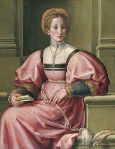 Pier Francesco Foschi (1502–1567) — Portrait of a Lady, c,1530-1535 : Museo Thyssen-Bornemisza, Madrid. Spain (1000×1297)