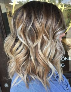 Shoulder Length Wavy Cut For Thick Hair, Wavy Hair Shoulder Length Curls, Curls For Medium Length Hair, Shoulder Length Balayage, Shoulder Hair Cuts, Curled Hairstyles For Medium Hair, Cute Shoulder Length Haircuts, Shoulder Length Blonde Hairstyles, Hair Cuts Shoulder Length Face Shapes, Shoulder Length Hair Styles For Women