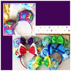 """Inside Out!"" Inspired Minnie Mouse Disney Ears"