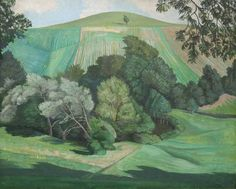 John Northcote Nash R.A. Dorset Landscape. He served in The Artists Rifles during WWI.