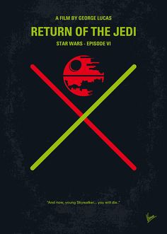 No156 My Star Wars Episode Vi Return Of The Jedi Minimal Movie Poster by Chungkong Art