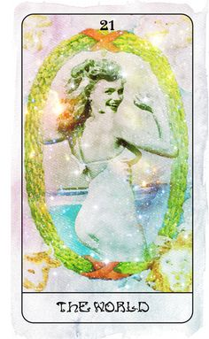 XXI. The World (Marylin Monroe) - Heart of Stars Tarot by Thom Pham