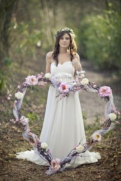 Willow heart decoration - from Laurel Weddings. Image by Mark Tattersall Photography