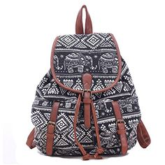 a1e27945ccf6 Cheap Leisure Elephant School Rucksack For Girl Totem Canvas Bag College  Backpack For Big Sale!Leisure Elephant School Rucksack For Girl Totem  Canvas Bag ...