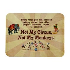 Not My #Monkeys, Not My #Circus Rectangle #Magnets