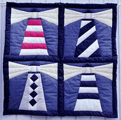 Free Lighthouse Quilt Block Patterns : 1000+ images about Group Quilting on Pinterest Quilting, Quilt patterns and Quilt blocks