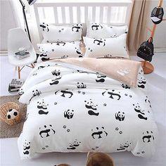 Twin & Queen Size Panda Bear Design Duvet Cover Bed Set