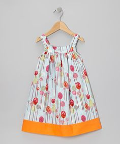 Take a look at this Blue & Orange Forest Jumper - Toddler & Girls by Nikkiloo on #zulily today!